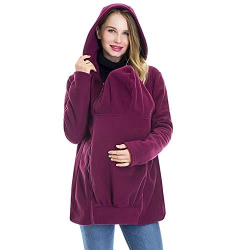AIBAB Känguru-Mutter Sweatshirt Herbst Und Winter Frauenkleidung Kindertasche Mit Kapuze Baby Schlafsack