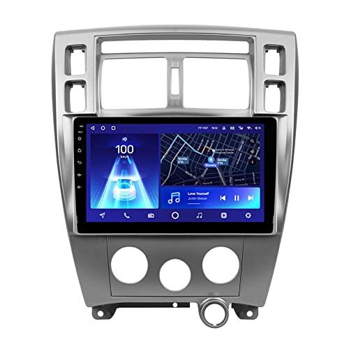 Amimilili Android 10 Autoradio Navigatore per Hyundai Tucson 1 2004-2009 GPS Supporto 4G/DSP/Bluetooth/Controllo Volante/carplay Telecamera Posteriore,8core 4g+WiFi: 4+64g