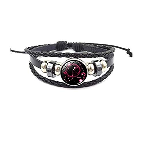 Handgemaakte accessoires kakupao Zodiac Armband 12 Constellatie Armband Lederen Armbanden Bangles Maagd Boogschutter Waterman Schorpioen Weegschaal Steenbok Ram
