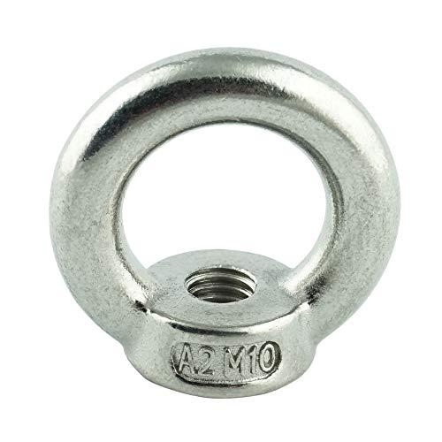 Eisenwaren2000 | M8 Ösenmutter (10 Stück) - Ringmutter ähnl. DIN 582 gegossen und poliert - Edelstahl A2 V2A - rostfrei