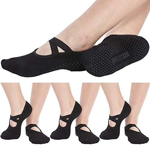 Women's No Show Low Cut Hospital Slipper Socks Great for...
