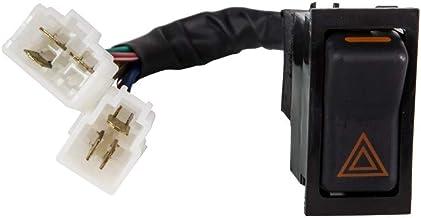 UNO MINDA SW-0357F Hazard Warning Switch -with Wire New Model (2 Coupler)
