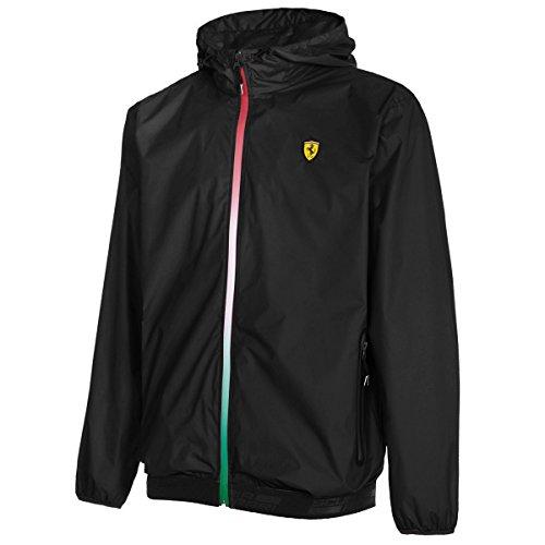 Chaqueta cortavientos para hombre de Scuderia Ferrari, fórmula 1 2017, 100% poliéster, color negro, XXL, Negro