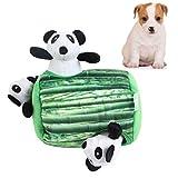 HUILI Perro chillona Felpa Suave Juguete Puzzle Pet Chew Sonido Squeaker Juguetes Diversión escondite Interactivo dentición de Perro de Juguete Lindo Panda Set