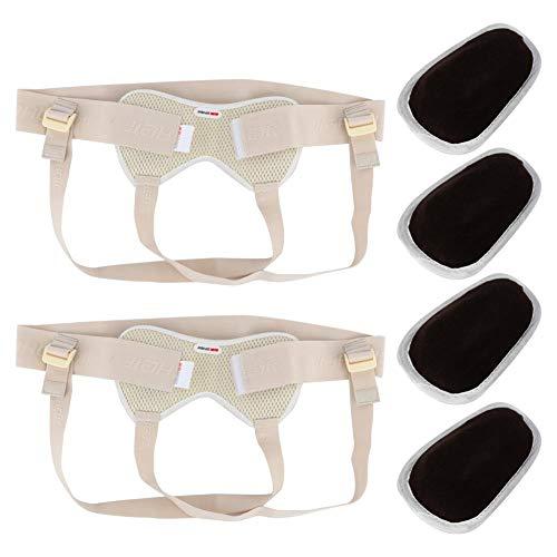 Herniengürtel, Leistenhernien-Gürtel-Leisten-Stützaufblasbare Hernien-Tasche für erwachsene ältere Menschen (L)