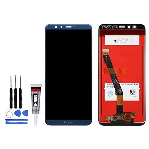 Icase - Pantalla LCD para Huawei Honor 9 Lite (incluye pegamento y herramientas), color azul