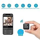 WiFi Mini Kamera, QZT WiFi Mini Überwachungskamera WLAN Kleine IP Kamera Kabellos mit Nachtsicht Minikamera für Handy (schwarz-FX)