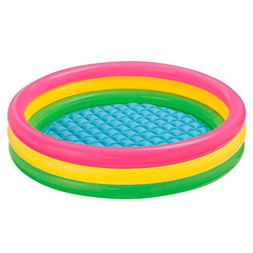 Intex Babypool Sunset Glow, 3-Ring, Mehrfarbig, Ø 147 x 33 cm
