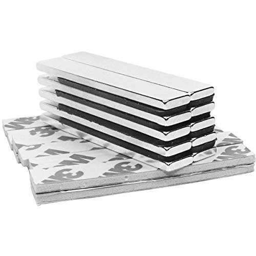10Pcs Magnete 60 x 10 x 3mm, Stark Neodym Seltenerdmagnete N52, Seltener Magnet, Rare Earth Magnets sehr starker Haftung für DIY Building Craft Office