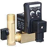 SODIAL 1/2 Válvula de Drenaje Electrónica Del Solenoide de la Válvula Del Agua Del Temporizador Eléctrico de la Pulgada Dn15 para el Condensado Del Compresor de Aire
