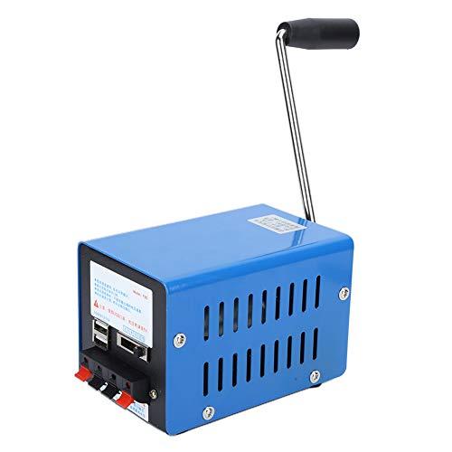 Generador de manivela de gran potencia, generador de manivela portátil Generador USB multifunción Manivela Cargador USB de emergencia para experimentos de supervivencia de emergencia Power Suppy
