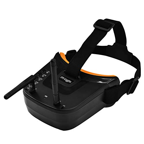 Summerwindy FPV Brille 3 Zoll 480X320 Anzeige Doppel Antenne Empfang 5.8G 40Ch mit Batterie Fuer Rc FPV Racing Drohne Quadrocopter