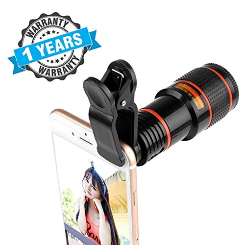 Kunst Mobile Blur Background 8X Optical Zoom Mobile Telescope Lens kit for All Mobile Camera | Background Effect Macro Lens & Wide Angle Effect Lens for All Smartphones Devices
