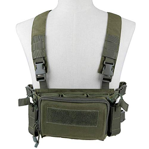 Kayheng Camouflage Quick Release Tactical Vest Airsoft Ammo Chest Rig 5.56 9mm Magazine Carrier Combat Tactical Military