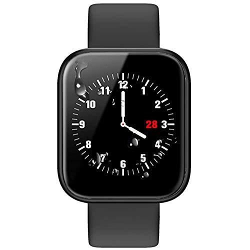 Bluetooth Smartwatch - Intelligente Armbanduhr Gesundheitsmessung (Herzfrequenz Blutdruck Blutsauerstoff Schlaf) Fitness Tracker Schrittzähler Sportdaten Tracking (P70 Schwarz)