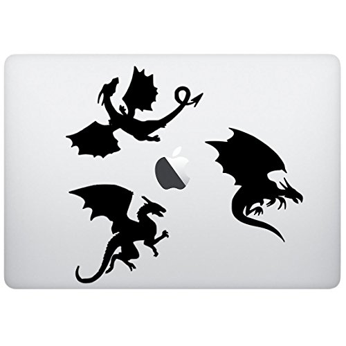 Sticker Decal Dragons Silhouette Design Computeraufkleber Laptopaufkleber MacBook Aufkleber iPad Aufkleber Laptopaufkleber iPad Aufkleber cooles Zubehor fur Laptop Computer