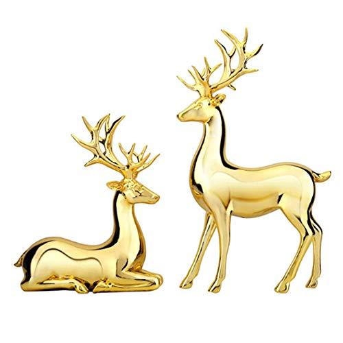 N / A Hochwertiger Goldelchschmuck, Harzmaterial, galvanisiertes Gold, modernes, leichtes Luxushandwerk, das Wärme und Romantik symbolisiert und für Wohnzimmer und Büros geeignet ist