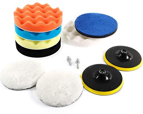 STUHAD Car Polishing Pads Kit 6 Inche 12pcs Buffing Pads car Care Polisher for Waxing Polishing