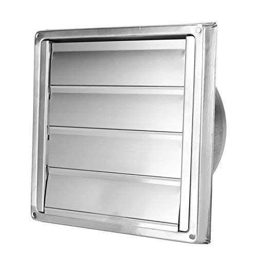 Rejilla de ventilación de aire, rejilla de ventilación de pared cuadrada de acero inoxidable, cubierta de repuesto de ventilación de baño y cocina para secadora extractora, salida de ventilador