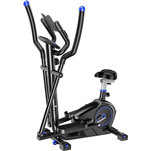 HETAO Ellipsentrainer Ellipsentrainer Cross-Trainer-Maschine - Mit Sitz + Puls-Herzfrequenzsensoren Cross-Trainer - Klein, robust und kompakt