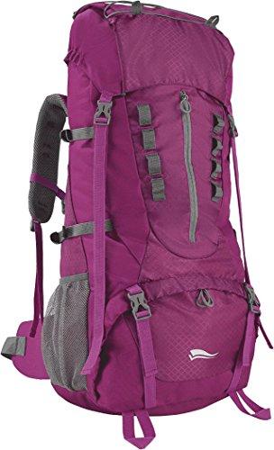 CRIVIT® Trekking Rucksack mit Regenschutzhülle, 65 Liter (beere)