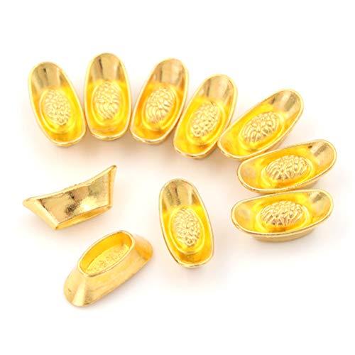 7thLake 10 Stücke Chinesische Goldbarren Glück Yuanbao Ornament Dekor Für Vermögen Reichtum