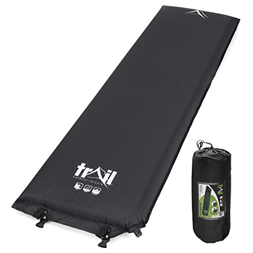 trail outdoor leisure Single Inflatable Camping Mat, Self-Inflating, 10cm Thick Memory Foam, Lightweight Sleeping Mattress, Carry Bag