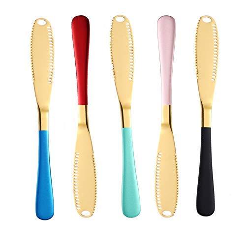 DDONVG 2/5 cuchillos de mantequilla, cuchillo de desayuno, corte de leche, cortador...