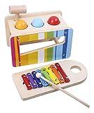Tooky Toys TKC122 Andreu Pound & Tap Banc, Multicolor, 27,5 x 14 x 20,5 cm