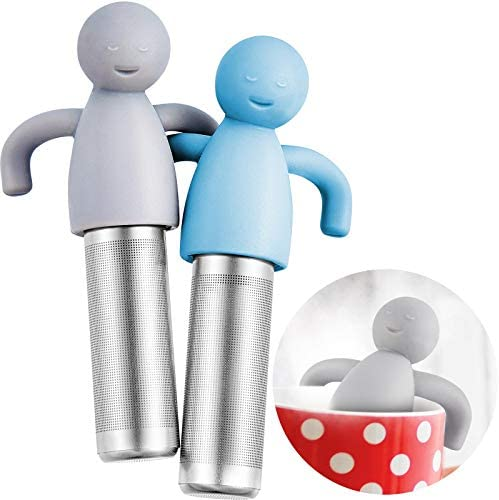 2 Pieces Tea Infuser for Loose Tea Cute Ultra Fine Mesh Tea Strainer Stainless Steel Tea Filter product image