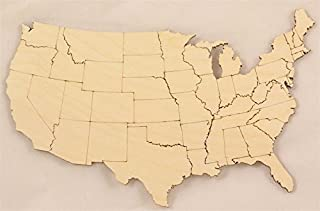 United States Map with States Size:Large 14