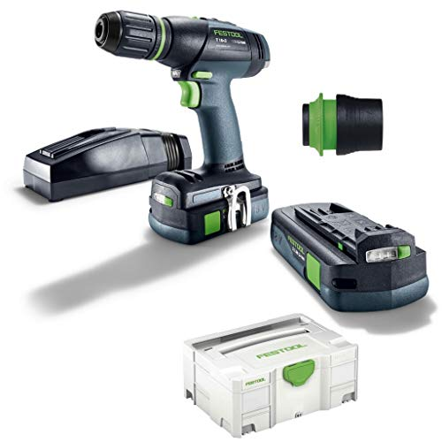 Festool accu-boormachine T18 + 3Lii 3,1-Compact S + WH Centrotec voering
