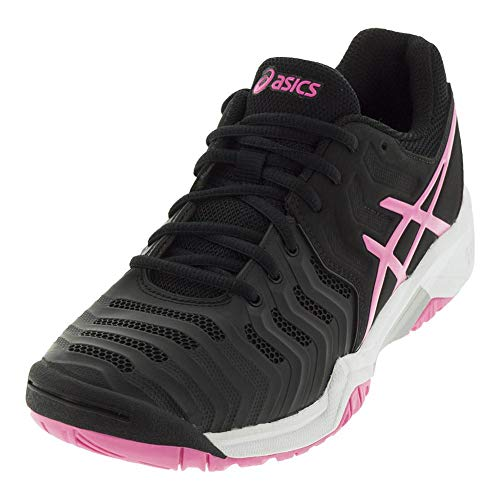 ASICS Kids' Gel-Resolution 7 GS Tennis Shoe, Black/Hot Pink/Silver (4.5 US)