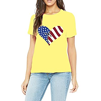 RAINED-Women American Flag Shirt 4th July Patriotic Short Sleeve T Shirt Girls Graphic Tee Casual Independence Day Tops