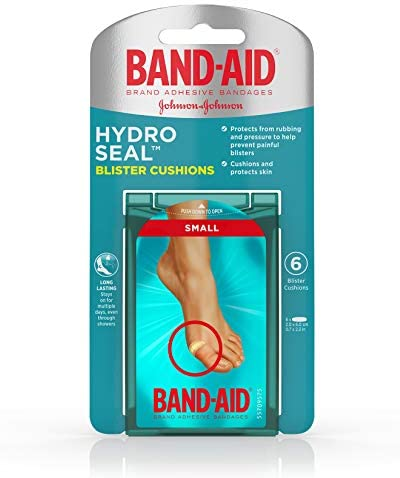Band-Aid Brand Hydro Seal Adhesive Bandages For Toe Blisters, Waterproof Blister Pad, 8 Count