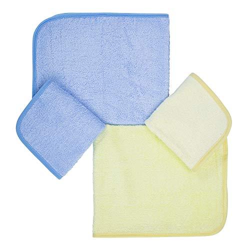 Ko&Pro Hygienische XXL Bambus Tücher | Je 2 Allzwecktücher 40x50 cm & 25x25 cm | Inklusive Zwei Reinigerrezepte | Gästehandtücher Küchentücher Putztücher Poliertücher Reinigungstücher