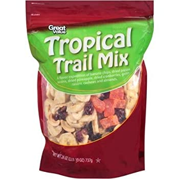 Great Value Tropical Trail Mix 1LB 10 Oz  Pack of 2  by Great Value