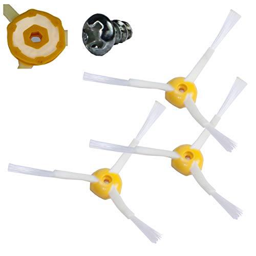 SCHWABMARKEN - Pack de 3 brosses latérales compatible pour iRobot Roomba - séries 500/600/700 - Aucune pièce d'origine iRobot!