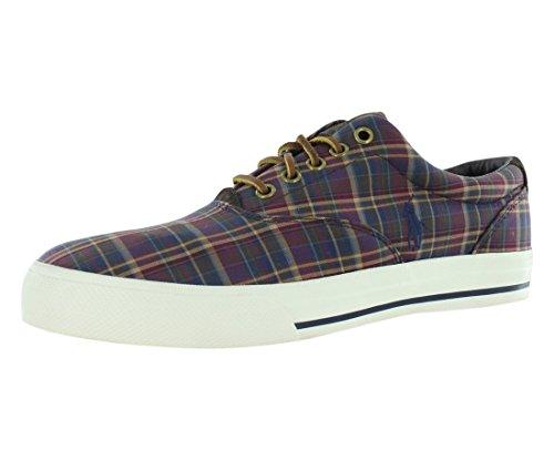 Ralph Lauren Polo Vaughn Lace Up Sneaker Maroon/Navy