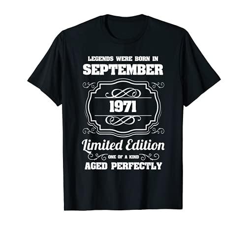 cappello 50 anni compleanno uomo Le leggende sono nate nel settembre del 1971 50 compleanno Maglietta