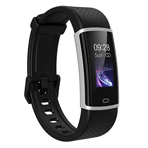 Aktivitätstracker Schrittzähler Uhr für Damen Kinder Herren, Smart Watch mit Pulsuhren Schlafmonitor, Wasserdicht Fitness Armband Fitness Uhr Anruf