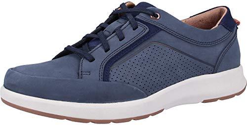 Clarks Un Trail Form, Zapatos de Cordones Derby, Azul (Navy Nubuck-), 40 EU