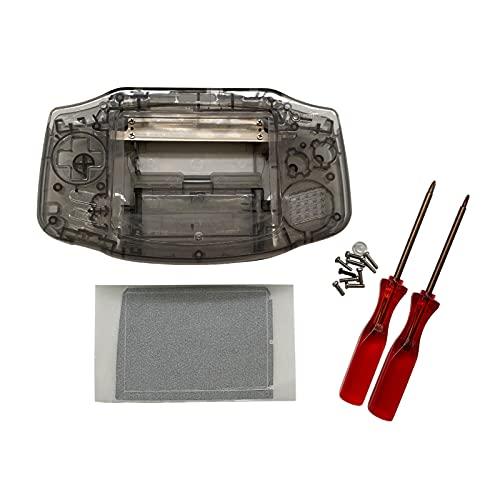 Jerilla Ersatz IPS Gehäuse für Game Boy Advance GBA IPS Konsole, Vollschalen Reparaturteil mit Schraubendreher Werkzeug, Kein Schneiden