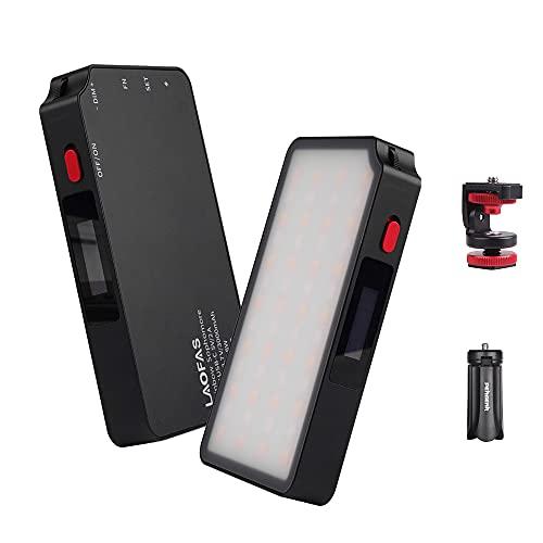 LAOFAS Rainbow Sophomore RGB LEDビデオライト APP制御 超薄型 超軽量 ディフューザー付き CRI95+ 高演色...