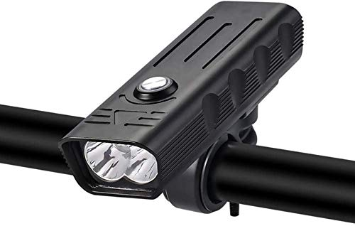 aipipl Juego de Luces para Bicicleta súper Brillantes, IPX5 a Prueba de Agua, batería de Litio para Faros Delanteros y Traseros, Potente LED USB Frontal Recargable, 4 Modos de iluminación Luces de