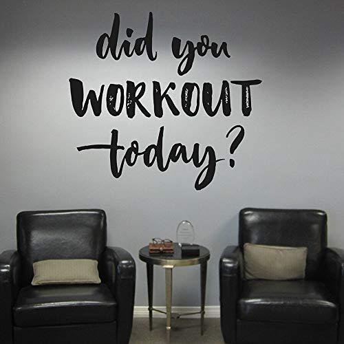 sanzangtang Wandtattoo Ihre Motivation Bodybuilding Sport Workout Heute Schlafzimmer Home Decor Vinyl Aufkleber,