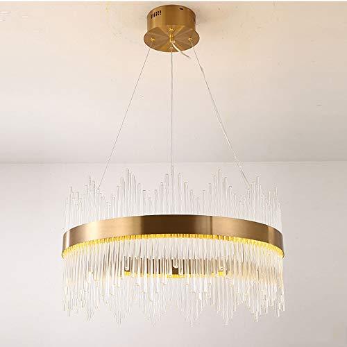 Lámpara de salón de cristal postmoderno de cristal LED lámpara de cristal redonda lámpara de cristal de lujo lámpara de araña de dormitorio simple Yang1mn (Size : 50 * 35cm)