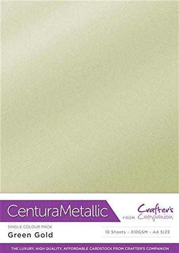 Centura métallique d'une Seule Couleur Lot de 10 Feuilles, Vert Doré