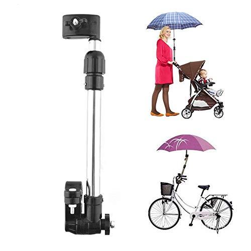QIYAT - Soporte para Paraguas para Cochecito de bebé con ángulo Ajustable, Soporte Giratorio para Paraguas, Soporte para Manillar de Barra, Accesorios para Silla de Ruedas