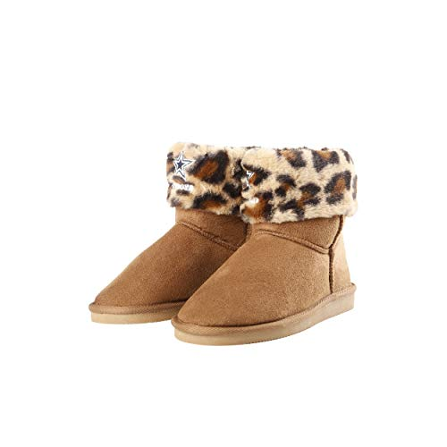 FOCO Dallas Cowboys NFL Womens Cheetah Fur Boots - L (9-10)